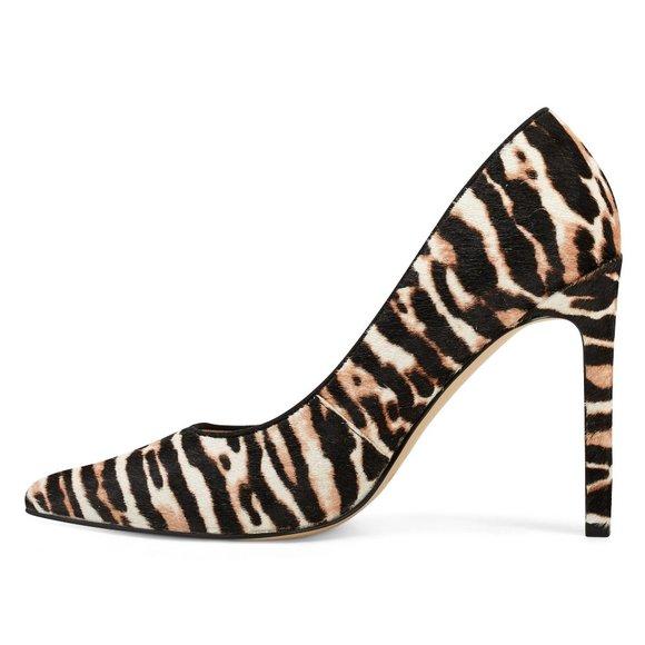 Tatiana Winter Leopard Pointy Toe Heels